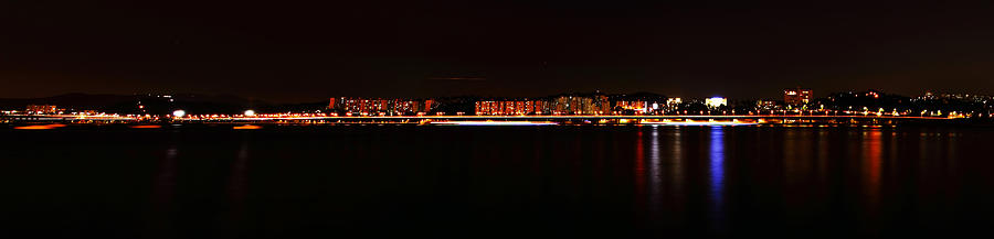 Han River Photograph - Hangang And Seoul Night Scene Panorama by Phoresto Kim