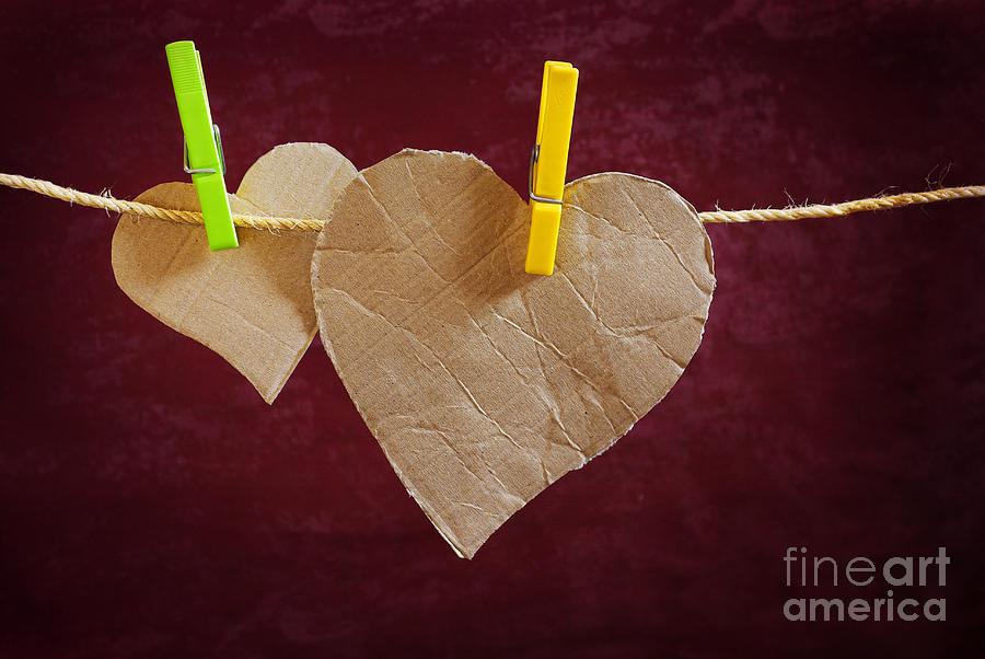 Aged Photograph - Hanged Heart by Carlos Caetano