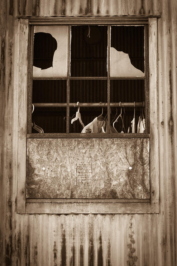 Window Photograph - Hangers In The Window by Randy Bayne