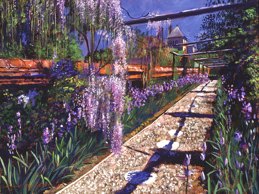 Gardenscapes Painting - Hanging Garden by David Lloyd Glover