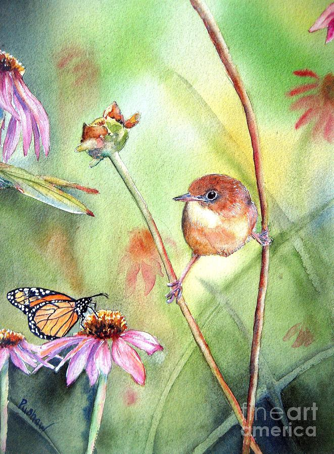 Common Yellowthroat Painting - Hanging In There by Patricia Pushaw