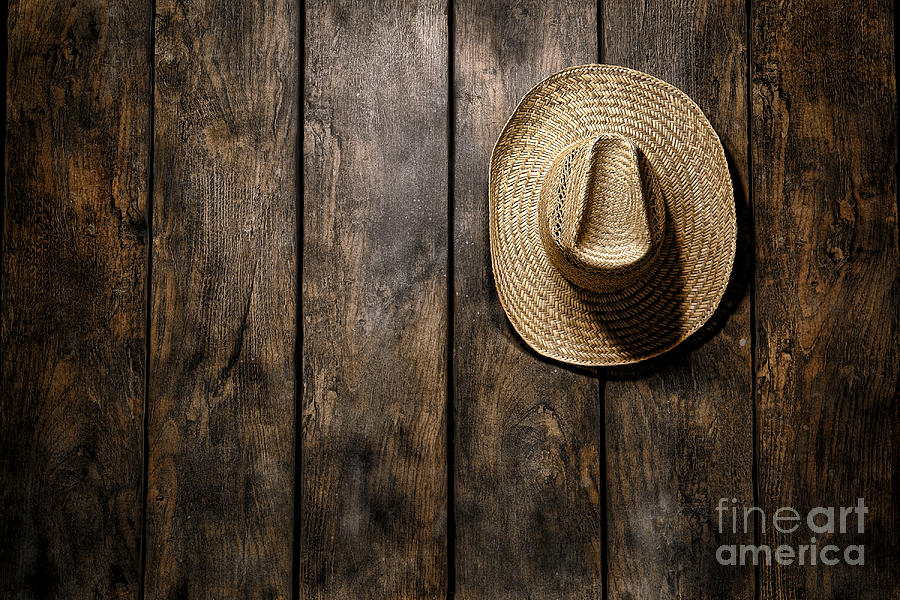 Straw Hat Photograph - Hanging My Hat by Olivier Le Queinec
