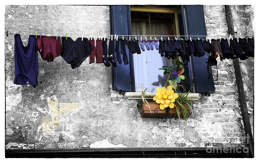 Laundry Photograph - Hanging Out To Dry In Venice 2 by Madeline Ellis