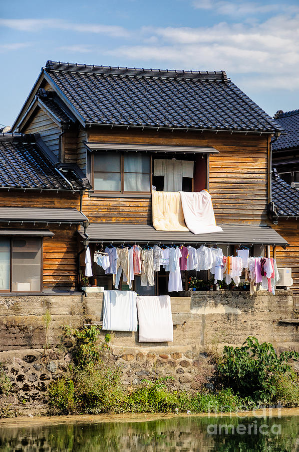 Japanese Photograph - Hanging Out To Dry - Laudry Day In Japan by David Hill