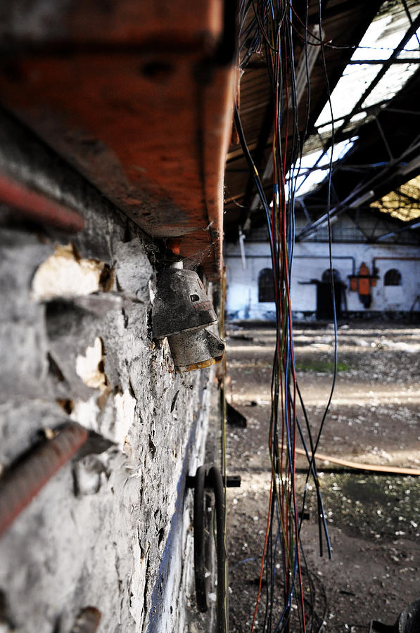 Derelict Photograph - Hanging Wires by Quirky Jen Photos