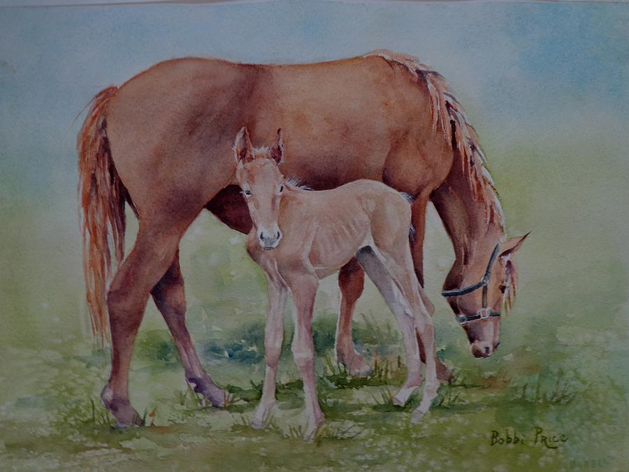 Landscape Painting - Hanging With Mom by Bobbi Price