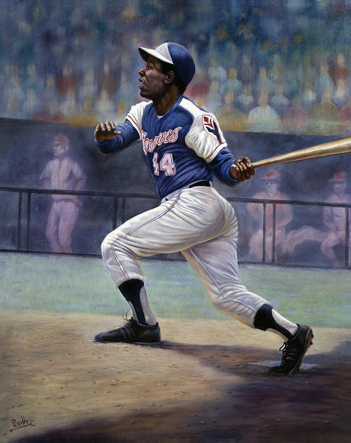 Hank Aaron Painting - Hank Aaron by Gregory Perillo