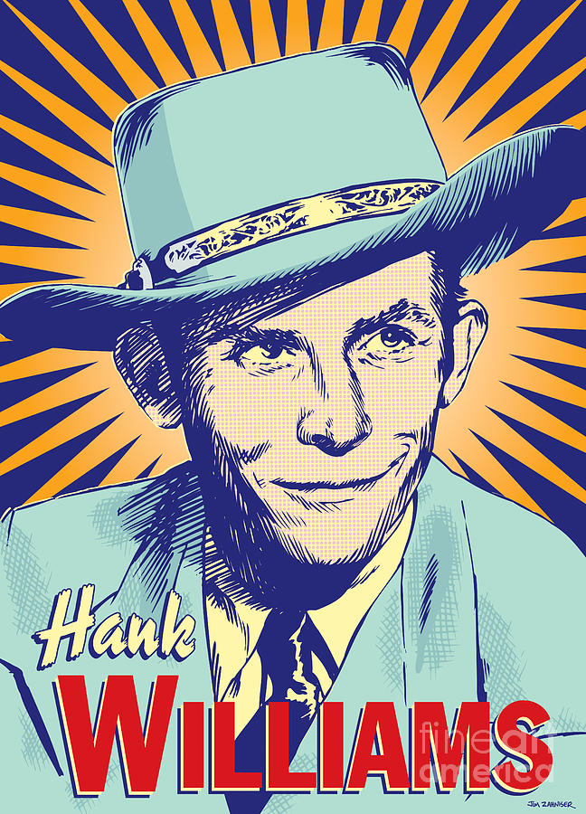 Country And Western Digital Art - Hank Williams Pop Art by Jim Zahniser