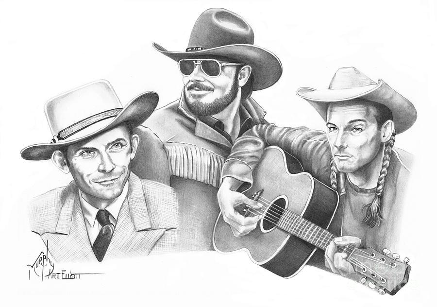 Pencil Drawing - Hanks For The Memories by Murphy Elliott