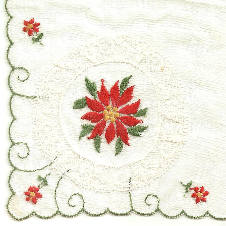 Greeting Photograph - Hanky Made In Switzerland by Lili Ludwick
