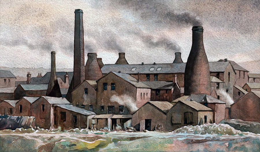 Hanley Painting - Hanley Pot Works by Anthony Forster