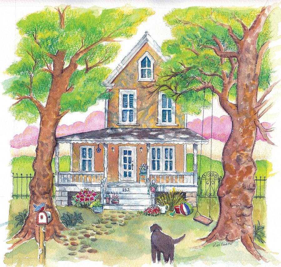 Tree Swing Painting - Hannahs House by Deborah Burow