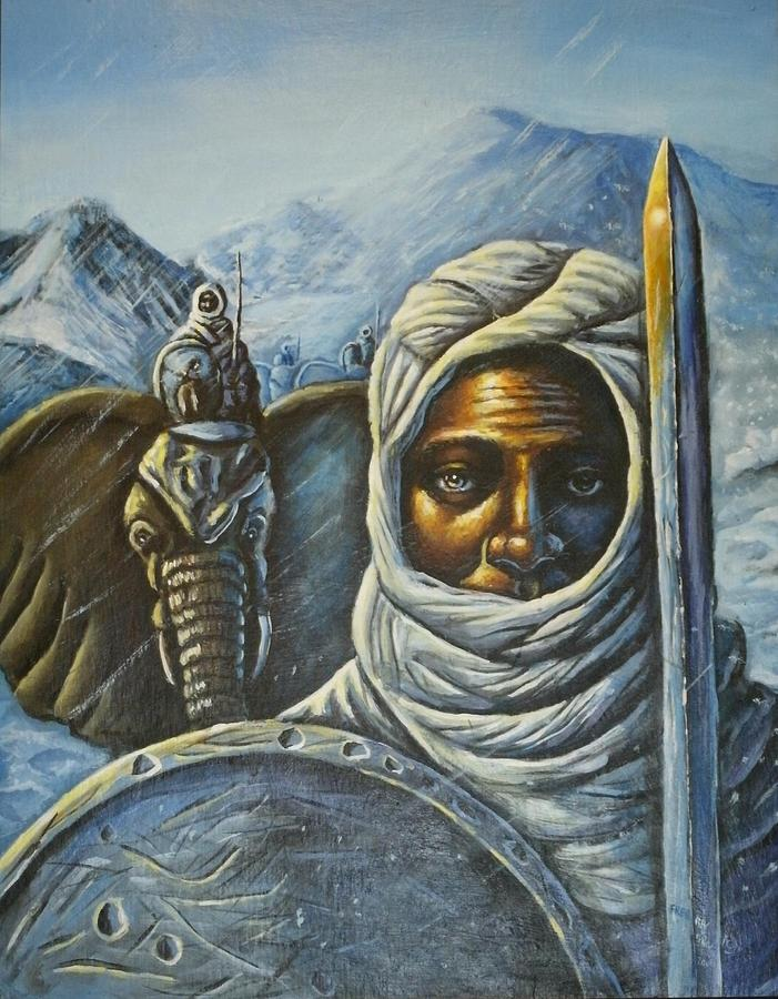 Hannibal Painting - Hannibal Crossing The Alps by Barbara Gray
