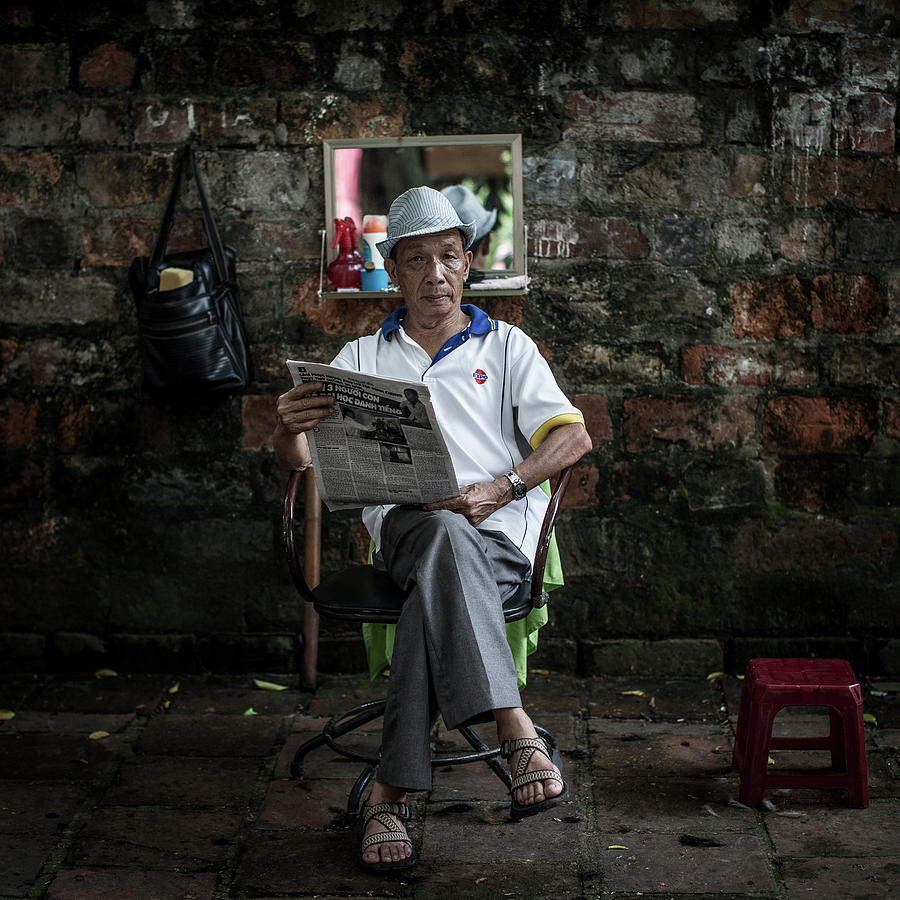 Hanois Street Style Barbers Photograph by Chris Mcgrath