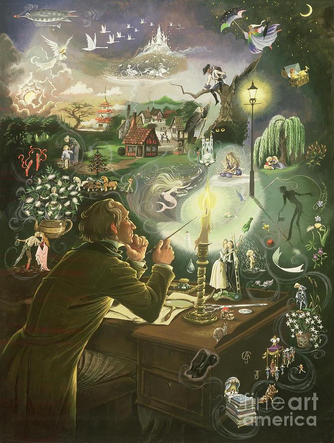 Hans Christian Andersen Painting By Anne Grahame Johnstone
