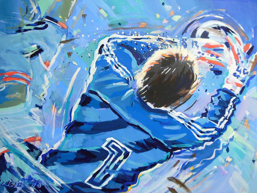 Voetbal Painting - Hans Van Breukelen Ek 88 by Lucia Hoogervorst