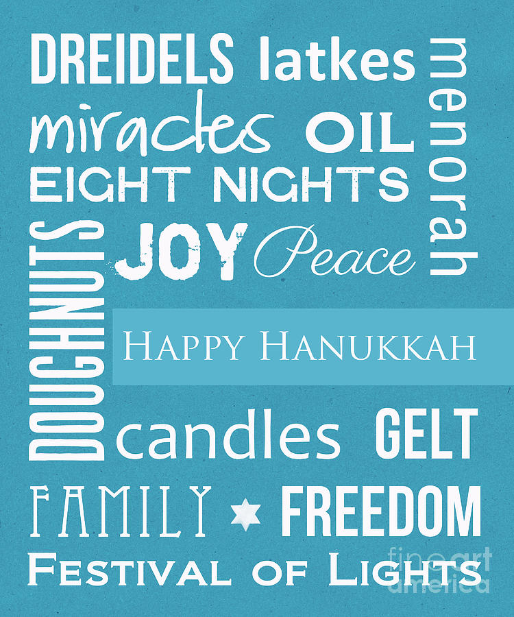 Hanukkah Mixed Media - Hanukkah Fun by Linda Woods