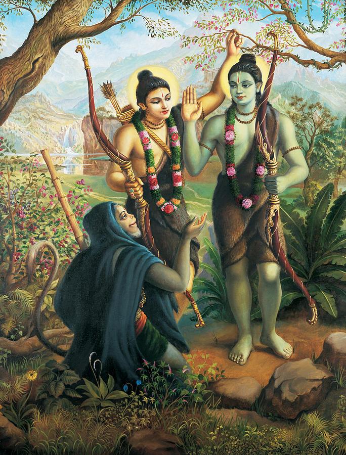 Ram Painting - Hanuman meeting Ram and Laxman by Vrindavan Das