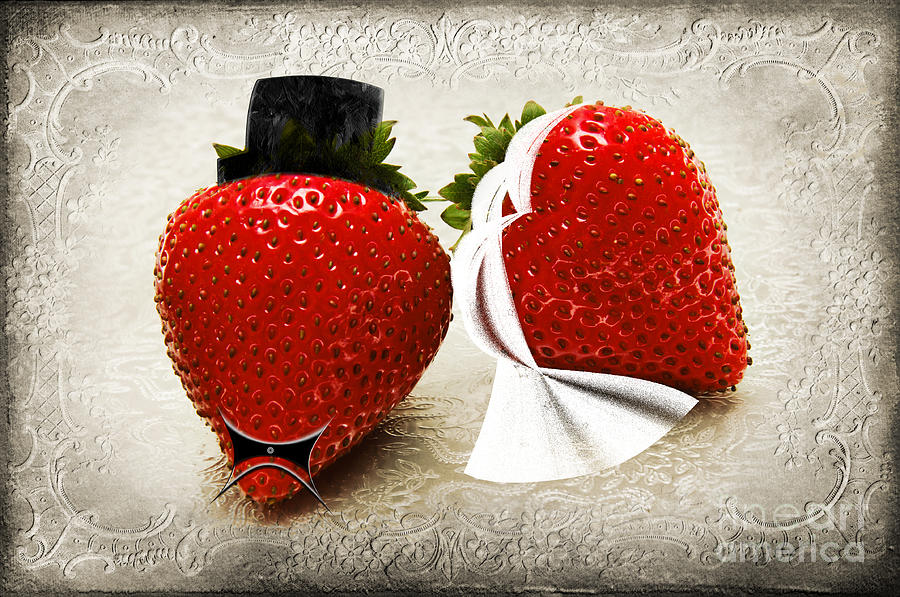 Strawberries Photograph - Happily Berry After by Andee Design
