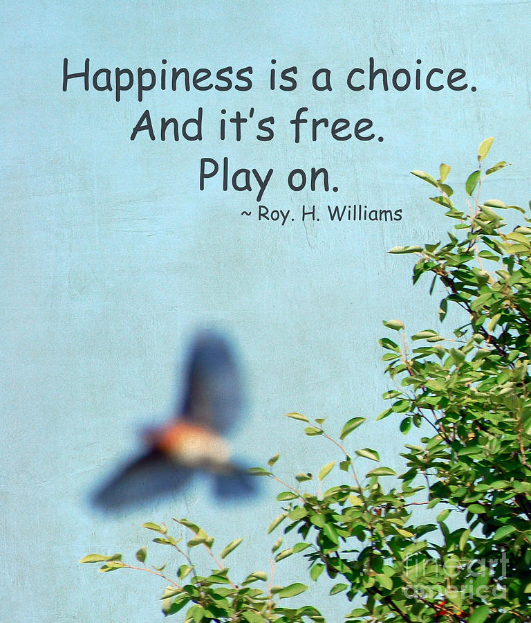 Bluebird Photograph - Happiness Is A Choice by Kerri Farley