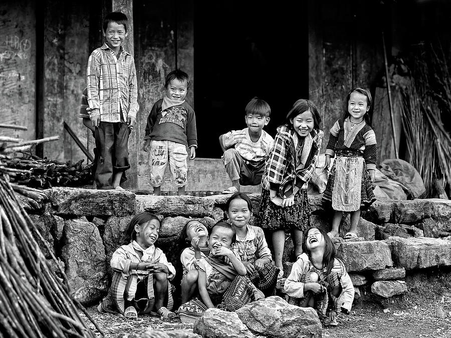 Ethnic Photograph - Happiness Is Having Nothing... by John Moulds