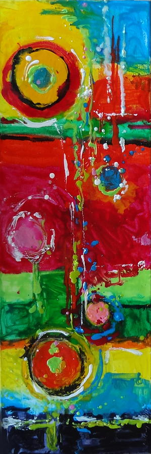 Colorful Painting - Happiness by Kelley Smith