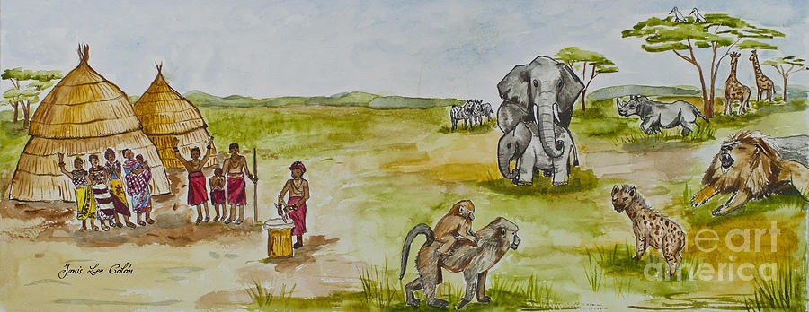 Africa Painting - Happy Africa by Janis Lee Colon