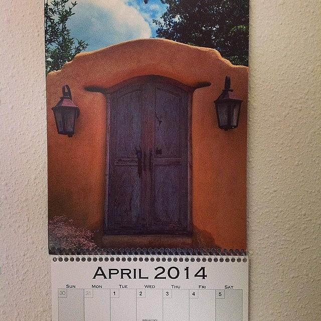Dates Photograph - Happy April!  My Santa Fe Doors by Gia Marie Houck