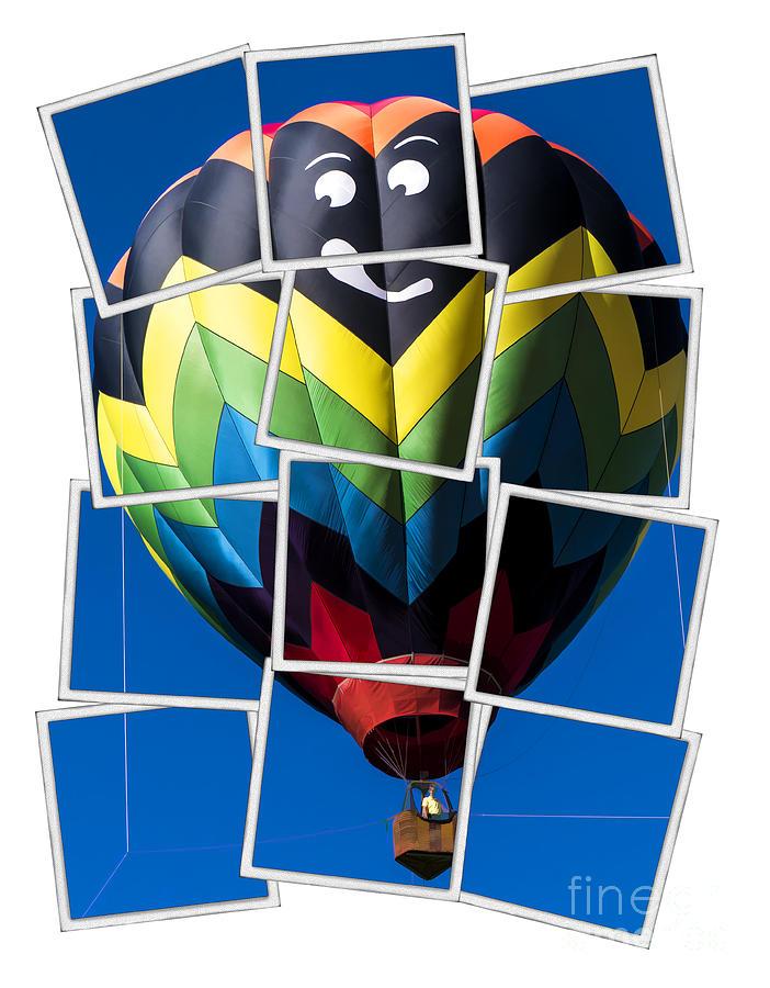 Hot Photograph - Happy Balloon Ride by Edward Fielding