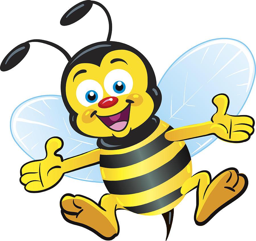 Happy Bee Drawing by Zaricm