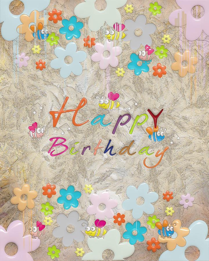 Illustration Digital Art - Happy Birthday 2 by Liane Wright