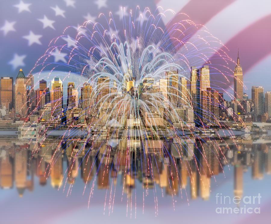 America Photograph - Happy Birthday America by Susan Candelario