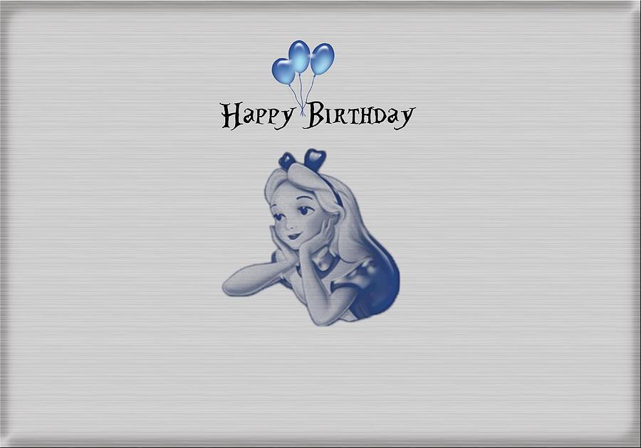 Happy Birthday Card Alice In Wonderland Digital Art by Becca Buecher – Alice in Wonderland Birthday Cards