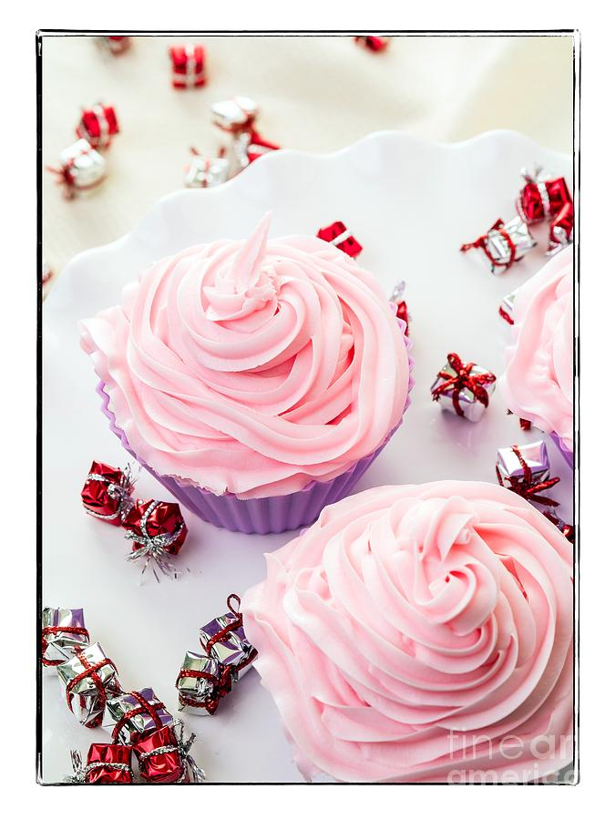Card Photograph - Happy Birthday Cupcakes by Edward Fielding