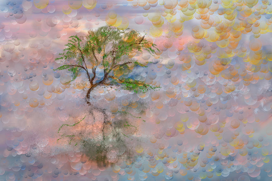 Happy Birthday Good Old Tree Painting - Happy Birthday Good Old Tree by Angela A Stanton