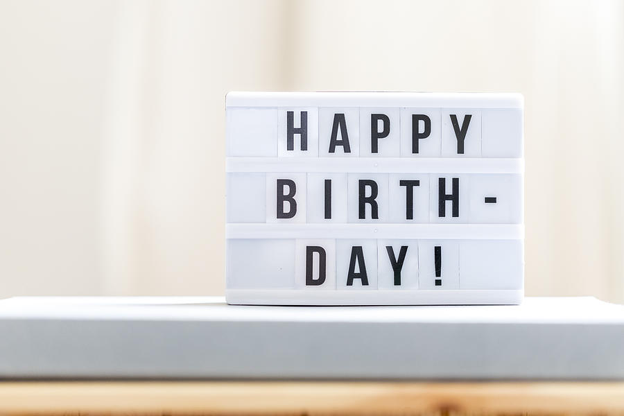 Happy Birthday: Happy Birthday Sign. Photograph by Malorny