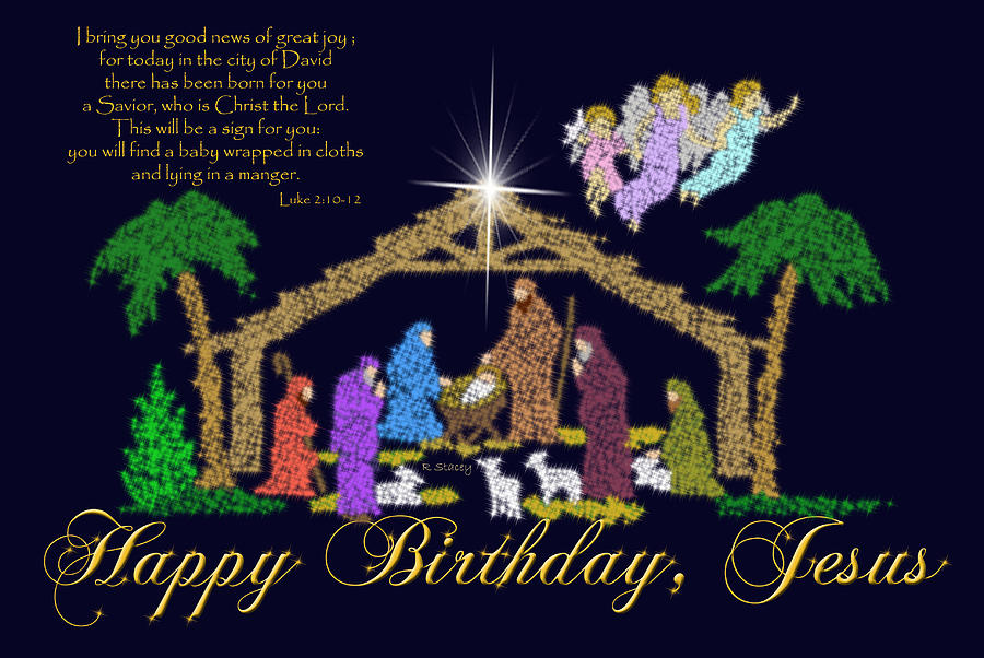 Happy Birthday Jesus Nativity Photograph By Robyn Stacey