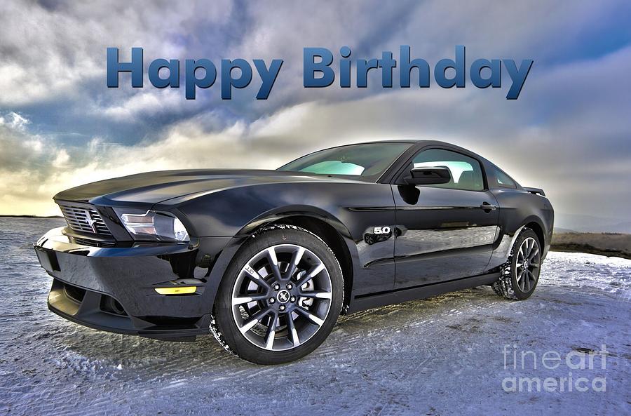 Happy Birthday Mustang Digital Art By Jh Designs