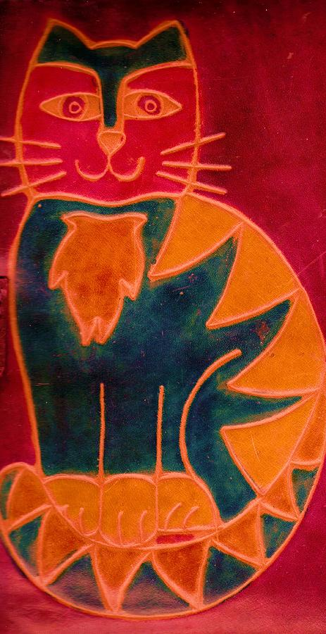 Cat Mixed Media - Happy Cat by Anne-Elizabeth Whiteway