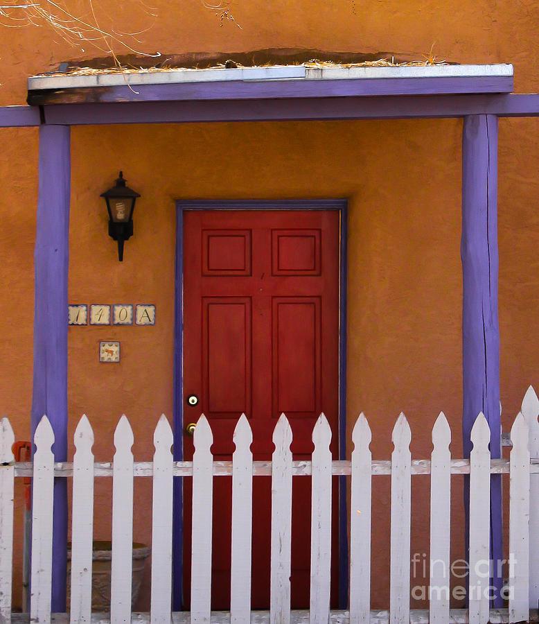 Santa Fe Photograph - Red Door by Nancy Yuskaitis
