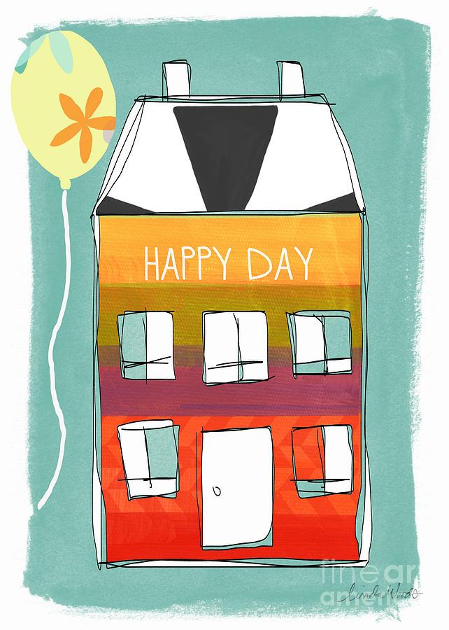 Happy Day Card Mixed Media