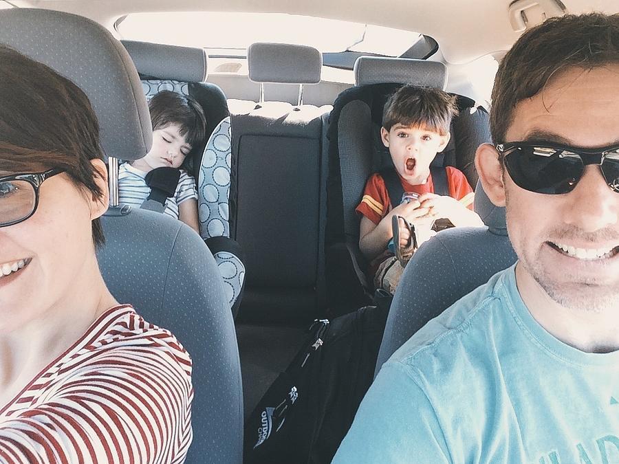 Happy Family In Car For Road Trip Photograph by Nikole Mock / EyeEm