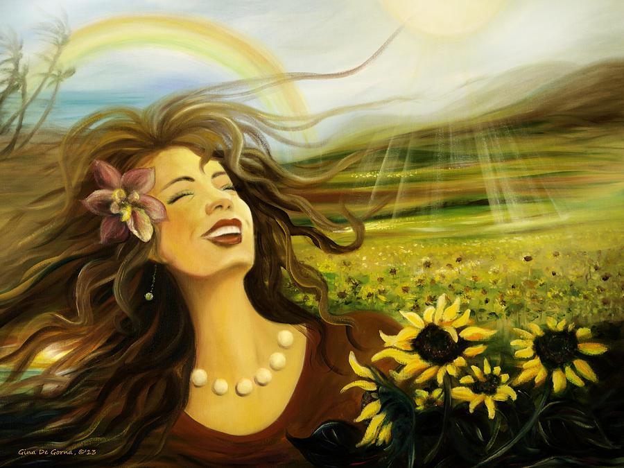 Happy Painting - Happy by Gina De Gorna