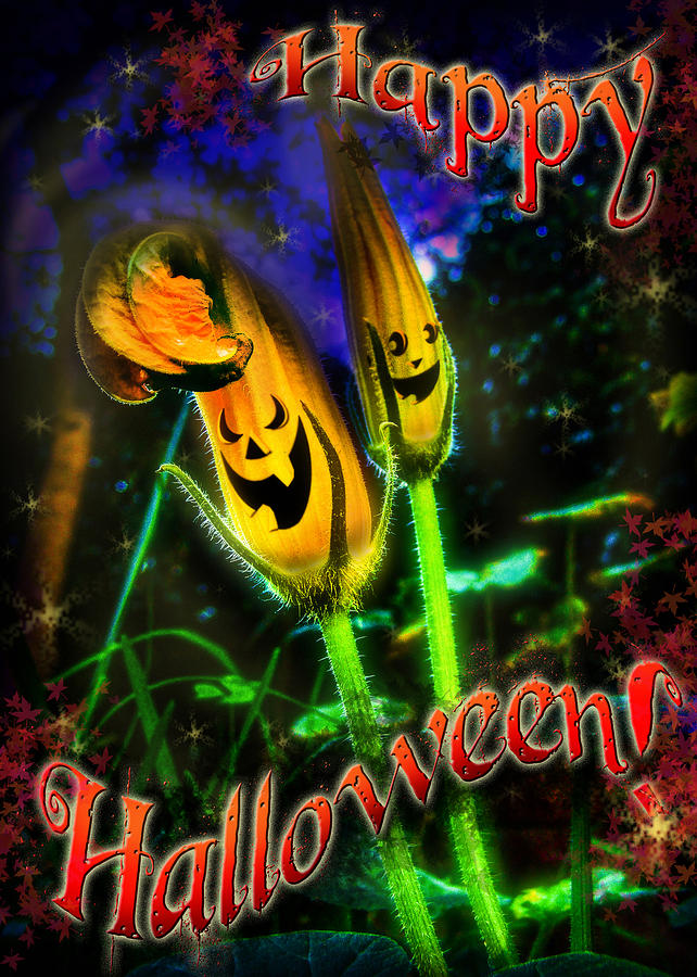 Greeting Card Digital Art - Happy Halloween by Alessandro Della Pietra