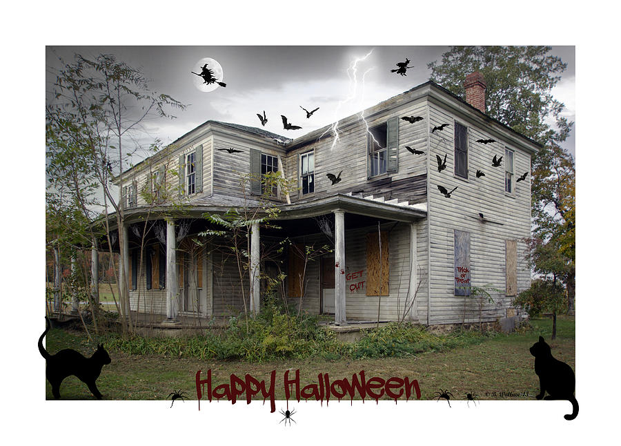 2d Photograph - Happy Halloween by Brian Wallace