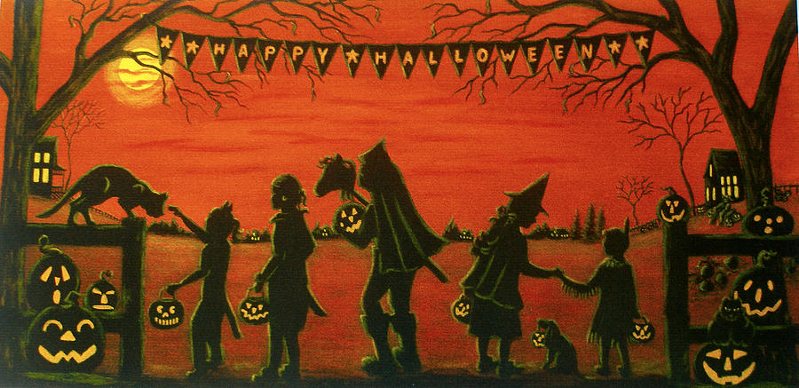 Happy Halloween Painting by Christine Altmann