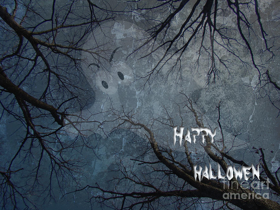 Halloween Photograph - Happy Halloween - Ghost In Trees by Mother Nature
