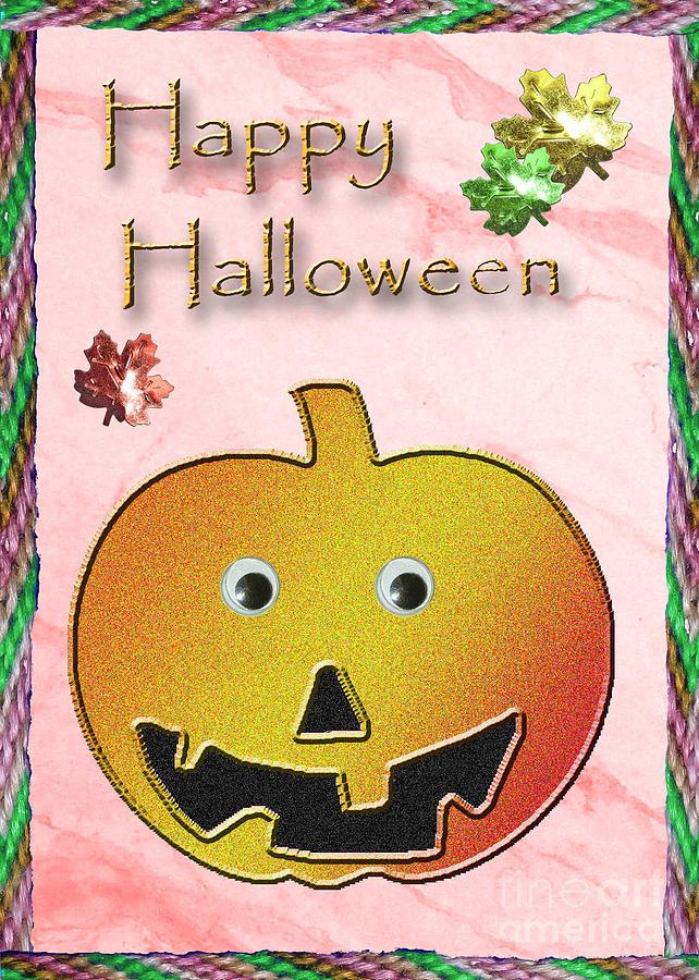 Happy Halloween Digital Art - Happy Halloween Pumpkin  by Jeanette K