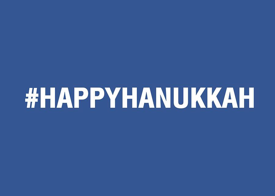 Happy Hanukkah Hastag Mixed Media
