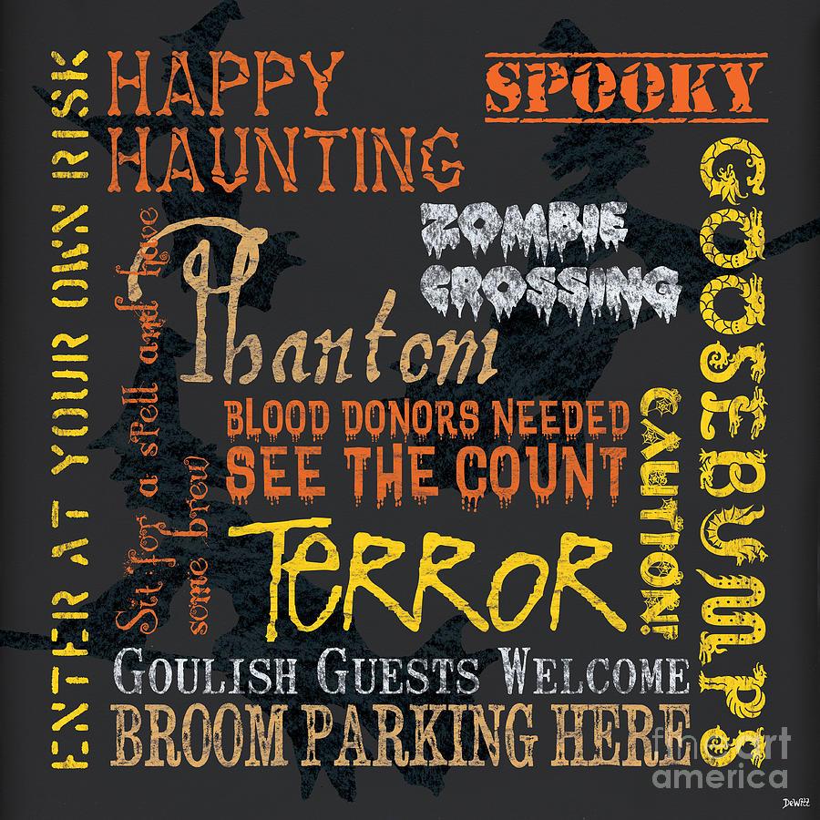 Halloween Painting - Happy Haunting by Debbie DeWitt